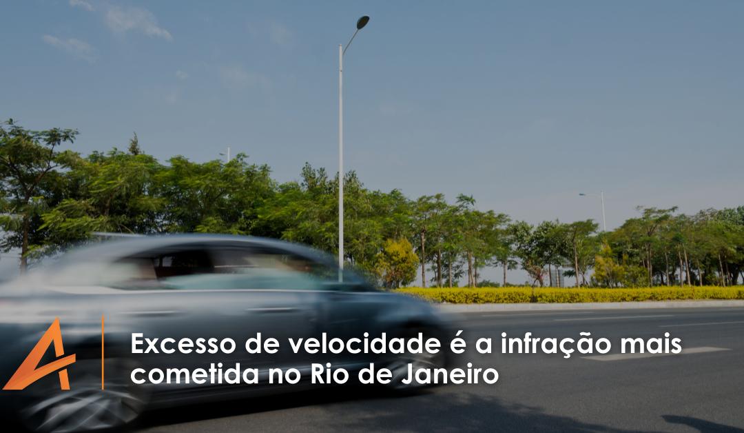 Excesso de velocidade é a infração mais cometida no Rio de Janeiro